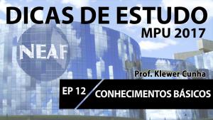 Dicas de estudo MPU Ep12 - Nraf