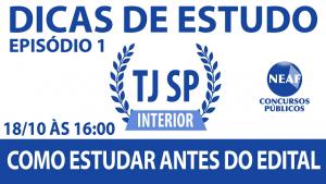 Dicas de estudos - TJ interior - Nraf