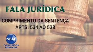 fala jurídica - cumprimento da sentença 4- blog Neaf